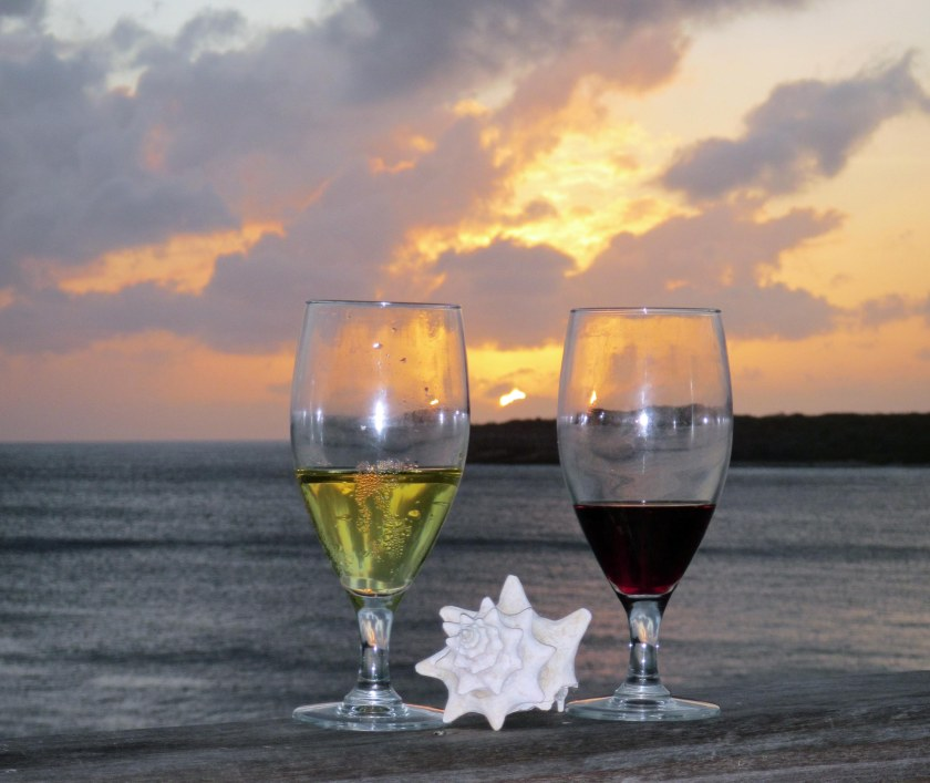gw blog curacao wine sunset